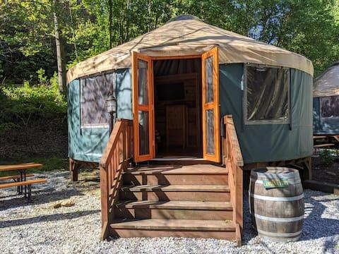 Glamping: Red Top Yurt in Marion, North Carolina