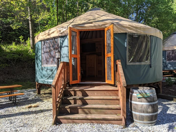Glamping: Red Top Yurt in Marion, North Carolina