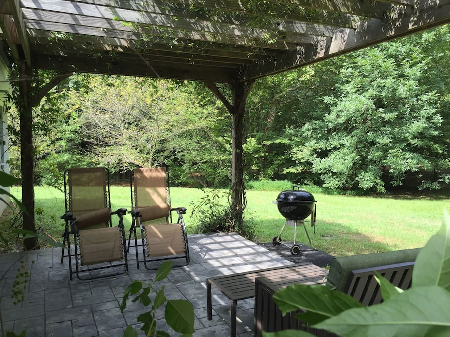 Wooded prospect when lounging on the patio or cooking out