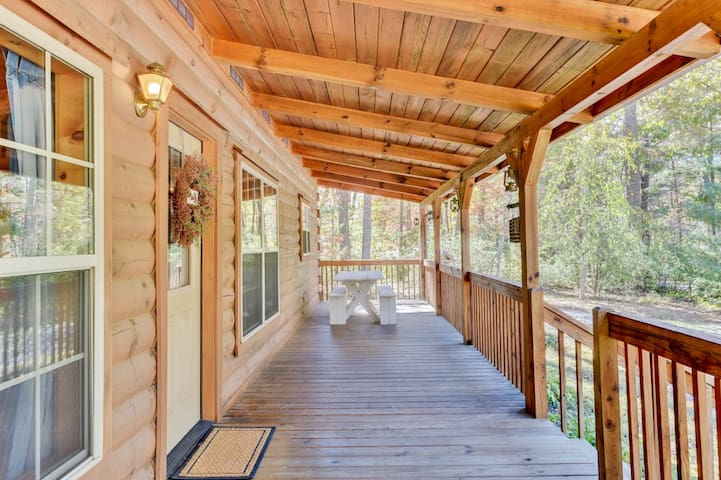 Unwind on the spacious front porch