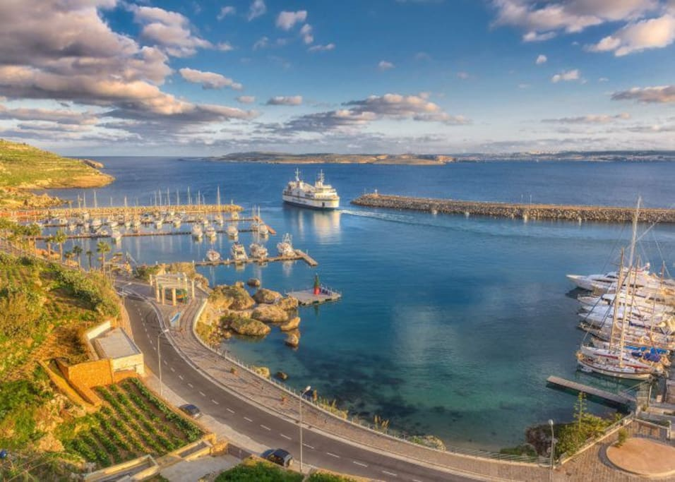 The Island of Gozo is reached by a regular ferry operating day and night.
