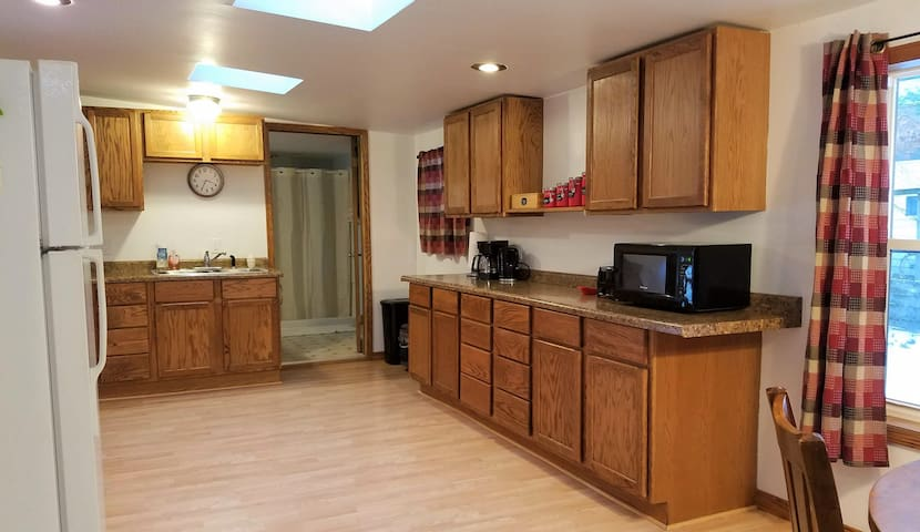 Spacious Kitchen with coffee bar
