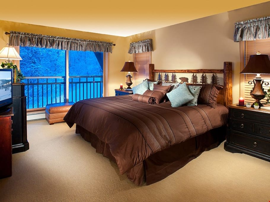 Get a good night's sleep in one of the bedrooms.