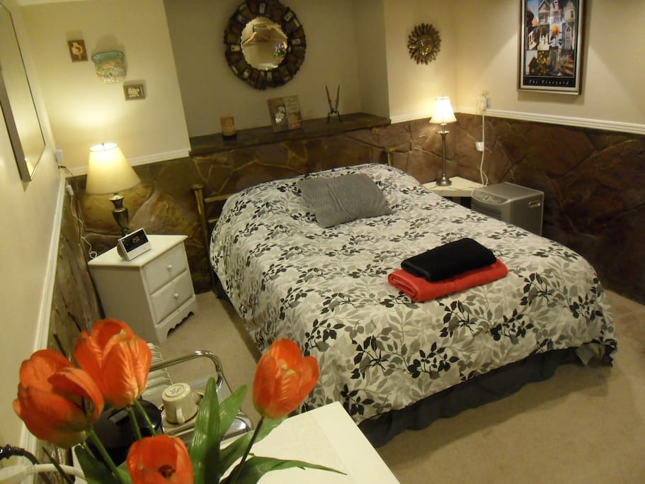 A great room with a comfortable double size bed, and all you need!