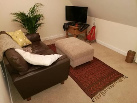 Entire flat with great views and a flexible host!