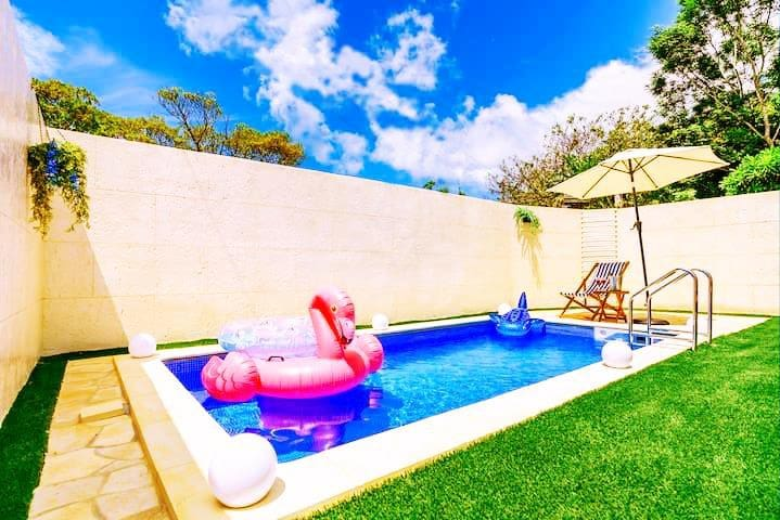 92 Private Pool Villa♡Onna/3BR/Baby/Max14ppl/C