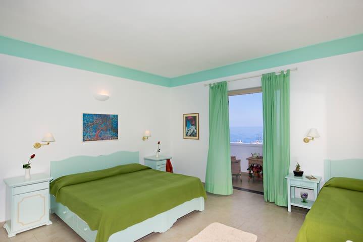 Triple room on the sea of Stromboli