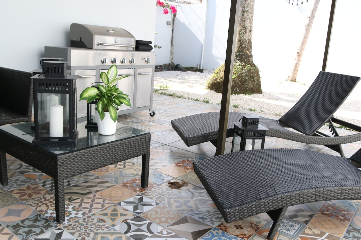Beautiful terrace with BBQ