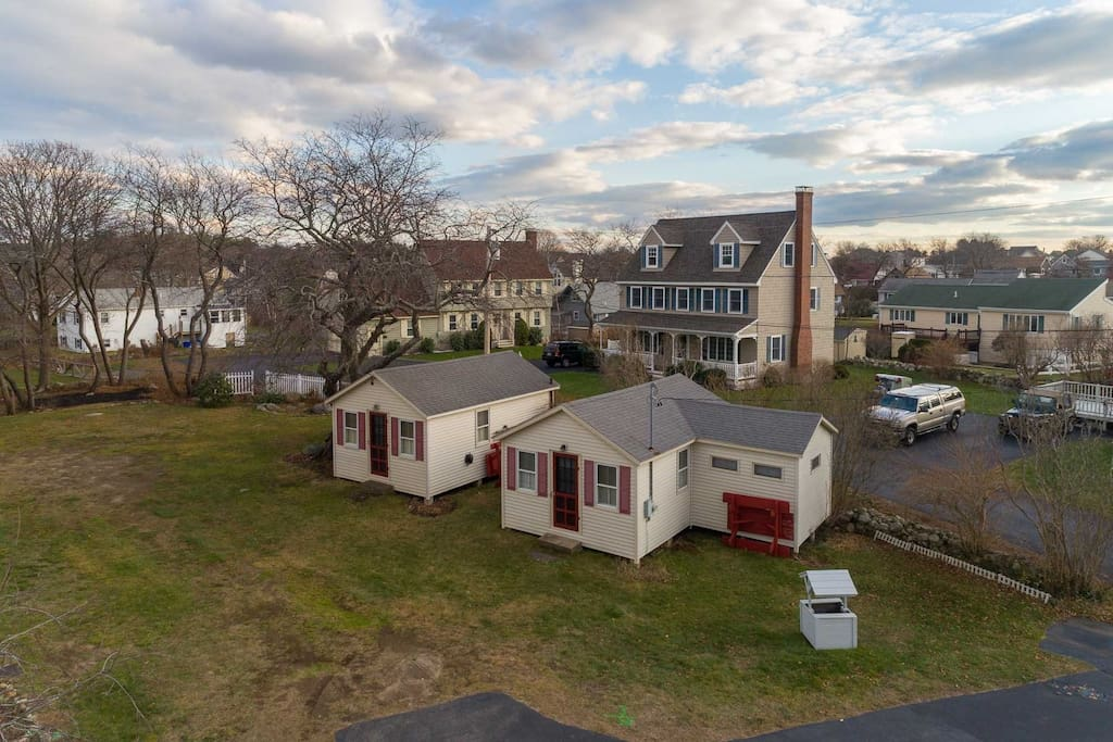 Aerial of cottage 3, and 2