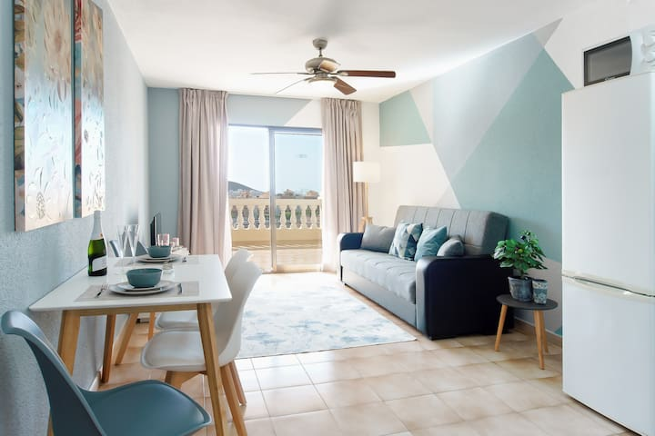 Bright, sunny and spacious living area.