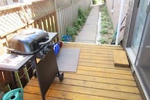 This is one of the two gas BBQ's  if you want to test your Chef skills.