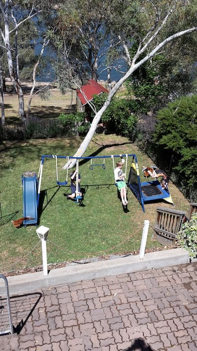 Fully fenced children's play area