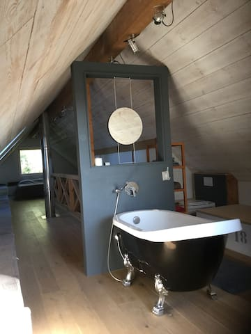 Suite sous les combles dans une maison passive - Hem - วิลล่า