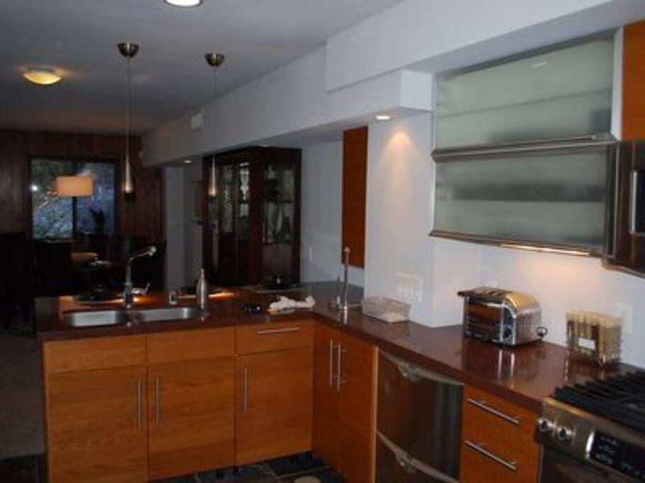 High end Kitchen Aid Appliances.