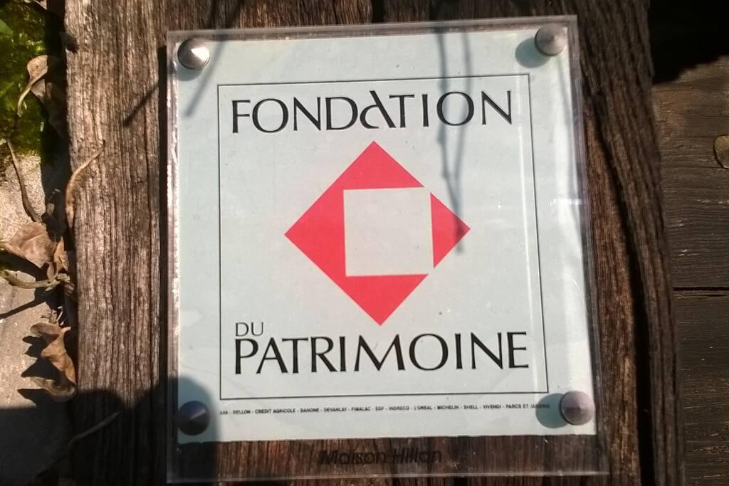 """Hillan a reçu le label """"Fondation du Patrimoine"""""""