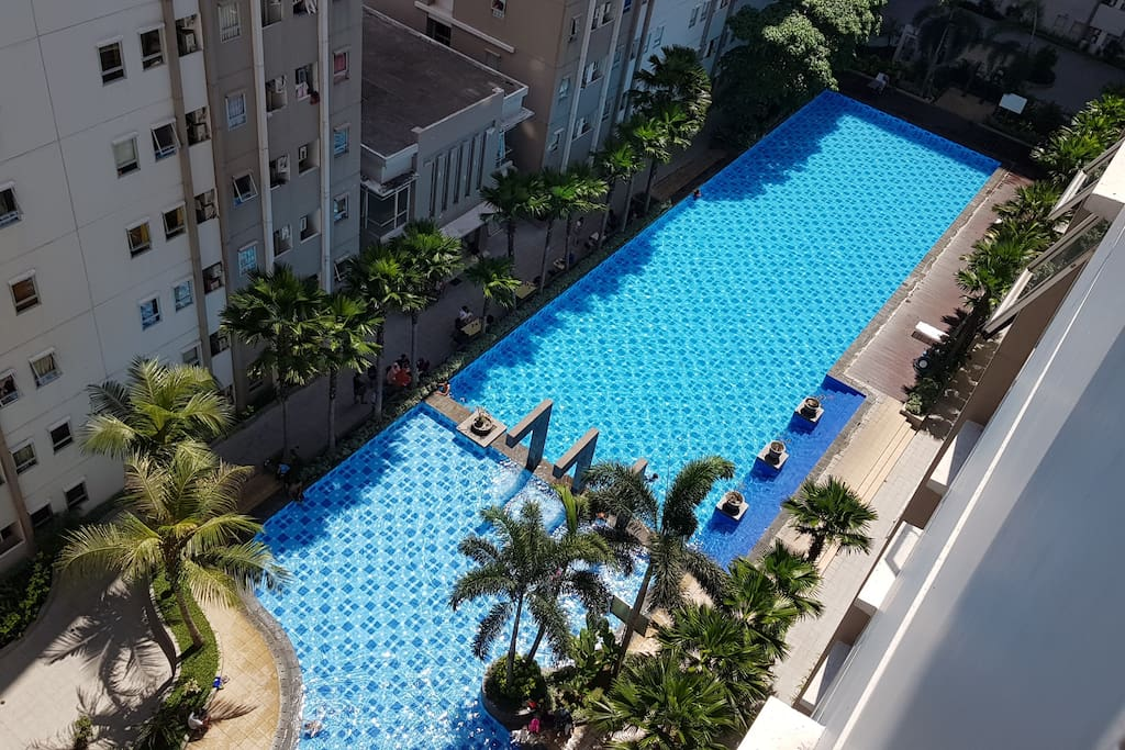 Swimming pool viewed from the room