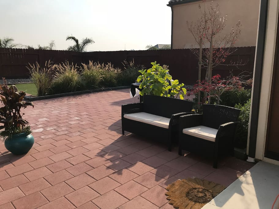 Outdoor space great for relaxing