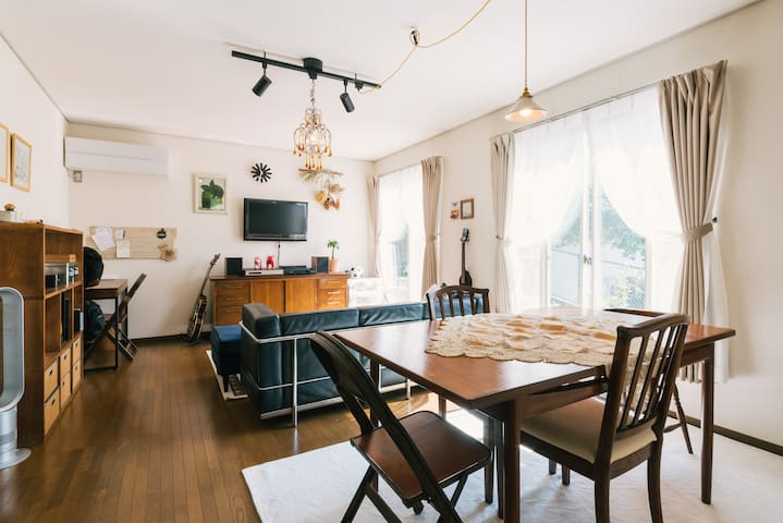 Friendly, Family Home near Ohori Park,Downtown - 福岡市中央区 - Casa