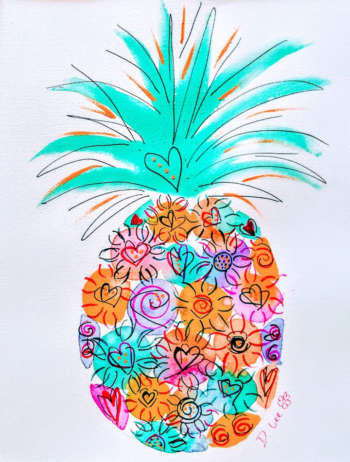 Its a pineapple kinda day composition