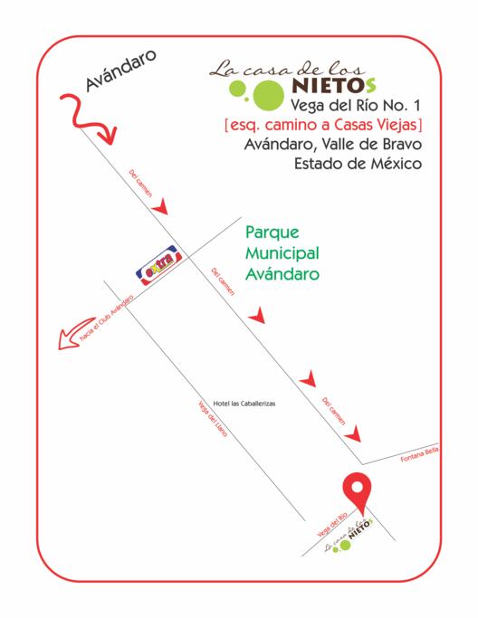 Mapa ubicación desde centro Avándaro