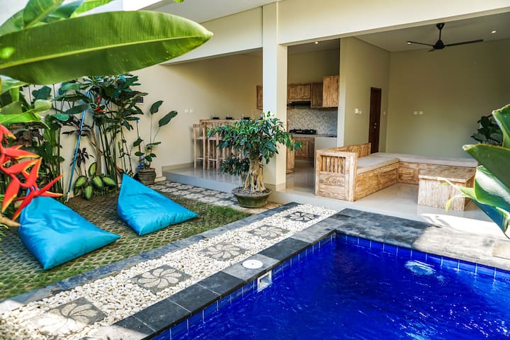 ☆☆ Privat 2 bedroom Villa 5min to Beach in Canggu