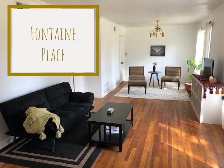 FONTAINE PLACE. Safe neighborhood & private porch!