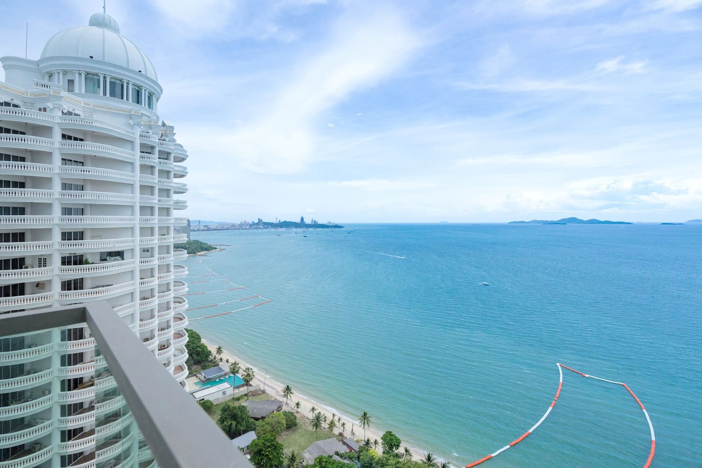 Pattaya bay terrific sea view from your beachfront large studio