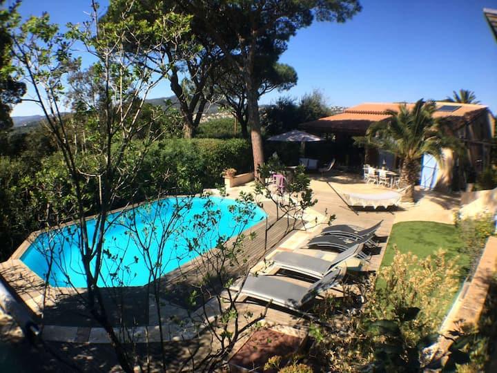 Villa de charme piscine jardin arboré dom. privé
