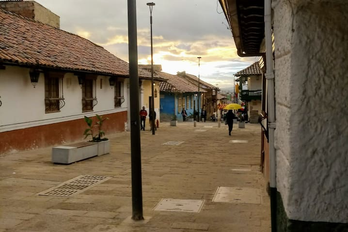 Most beautiful street in Bogota - ultrafast WiFi