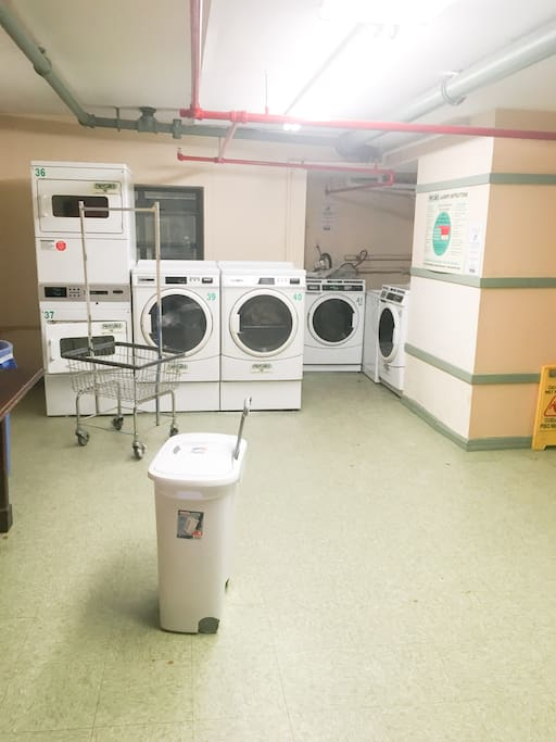 Laundry room by gym
