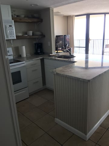 You can see the ocean from the kitchen