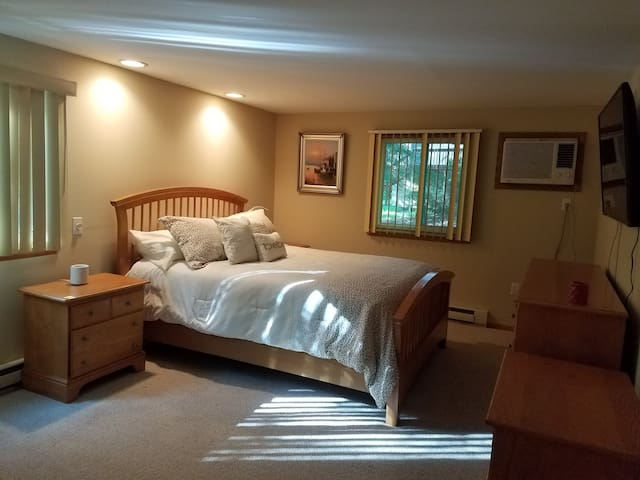 Master Bedroom with 50 Inches smart TV