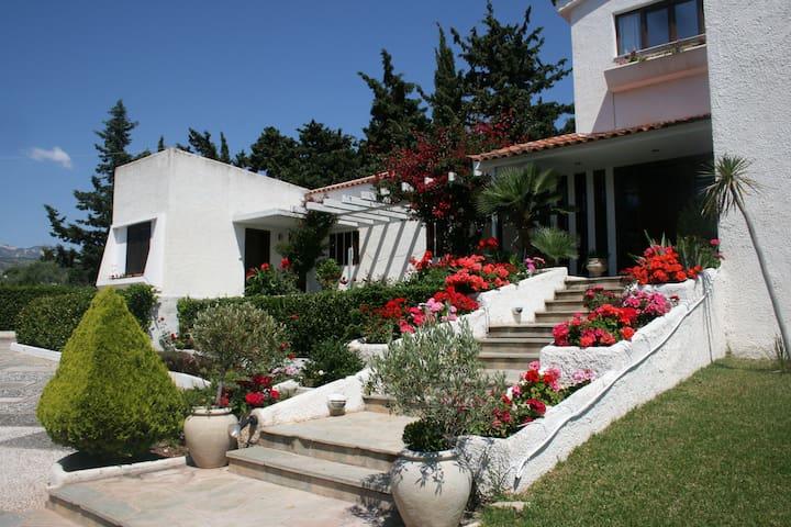 Villa Flora with sports facilities, near the sea