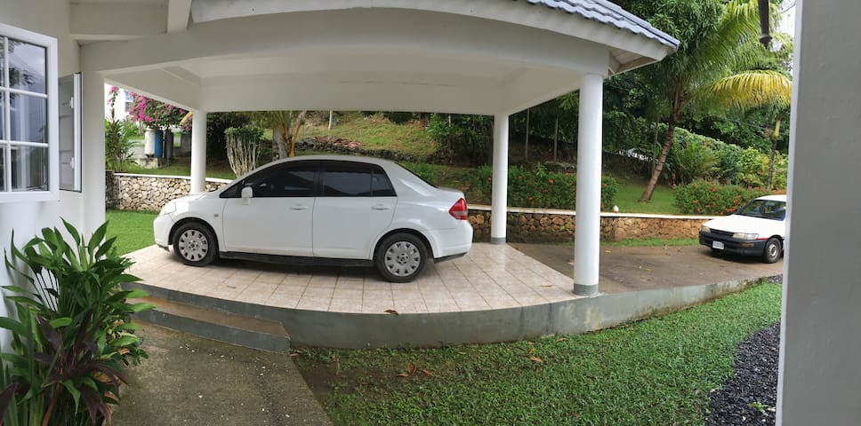 Shaded Parking & Driveway