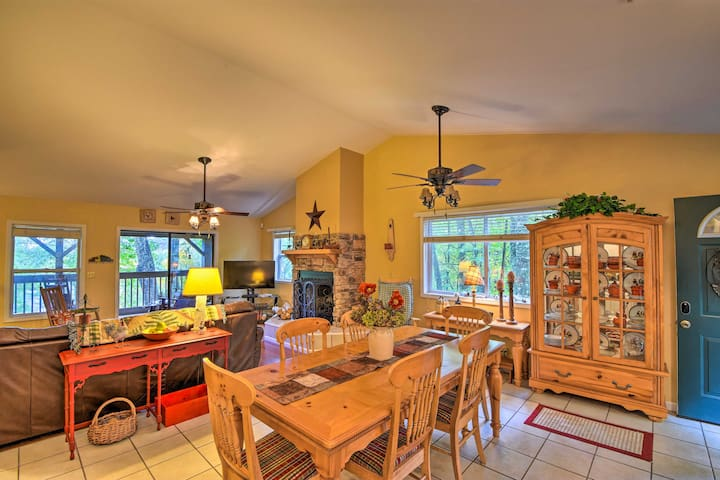 NEW! Family-Style Home w/ Dock on Lake Glenville!