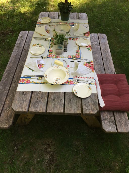 Picture of summer dinner here last year