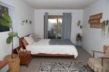 Master Bedroom with Sliding Door to Upper Deck