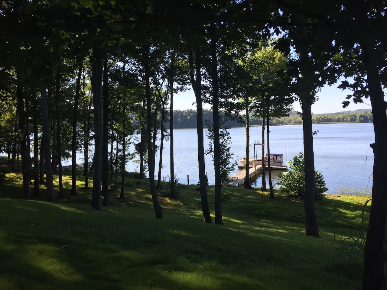 Relax on the deck and enjoy this beautiful view of Kentucky Lake.
