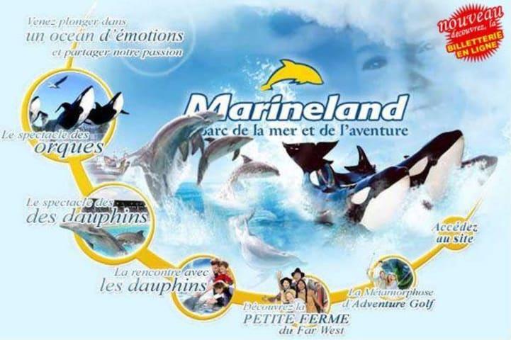 4 couchages vue mer Marineland Antibes