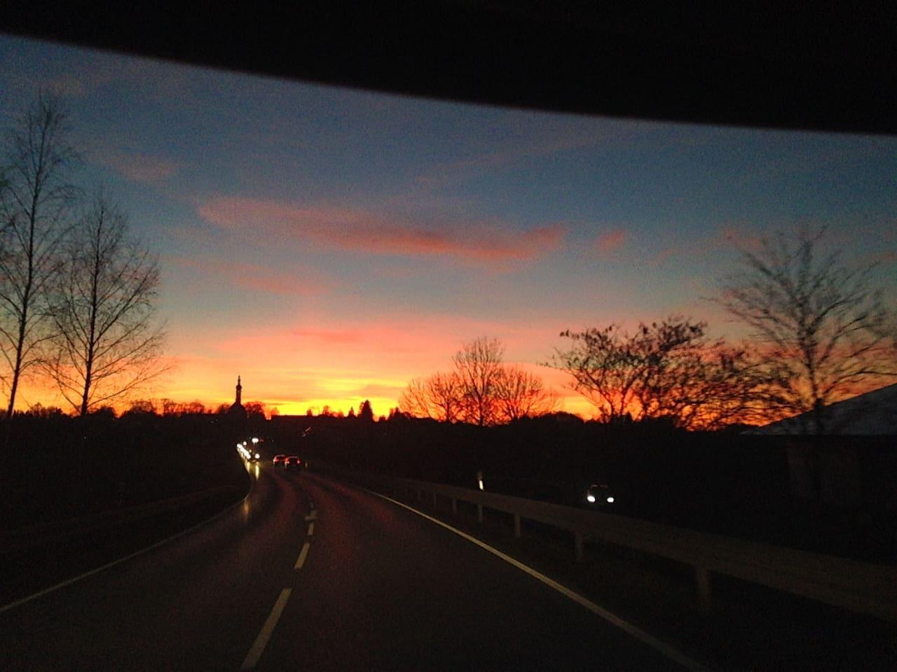 Sonnenuntergang in Aufkirchen