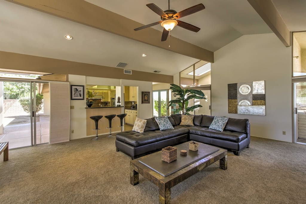 Comfortable furniture, inviting decor and all of the necessities of a true home-away-from-home can be found in this abode.