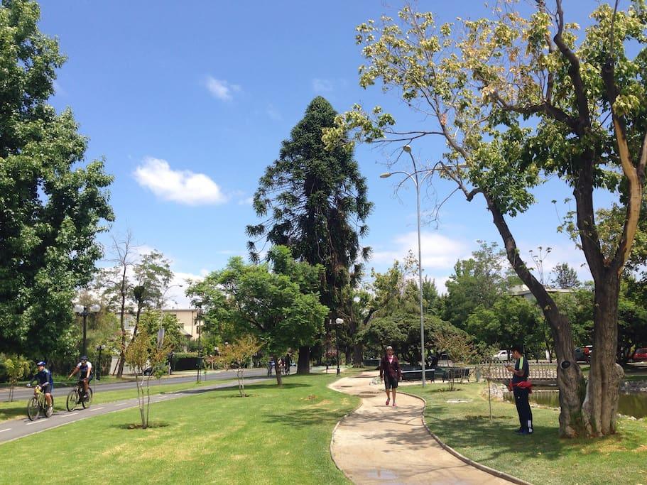 La Plaza Pocuro, a 10 minutos caminando.