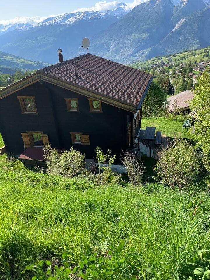 Bürchen: chalet eavec vue sur les Aples