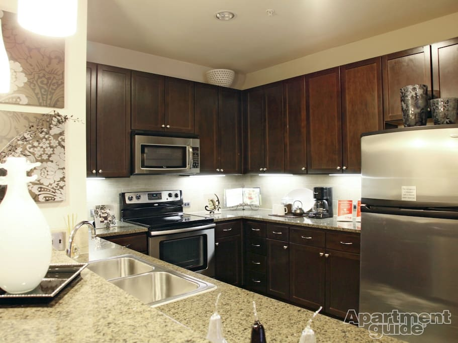 Upscale Kitchen (stock pic, ours is identical)