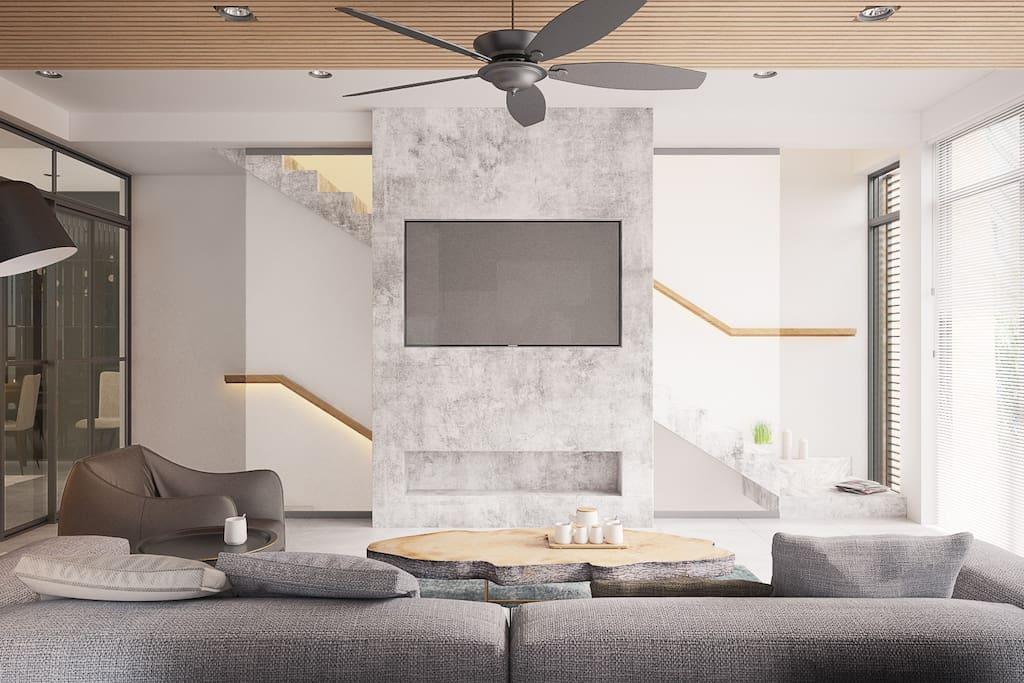 Living room, public (3D)