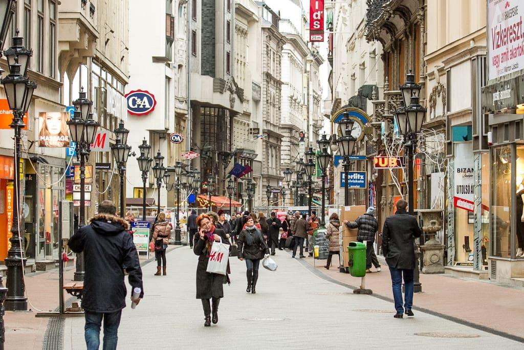 Váci Utca/Váci Street
