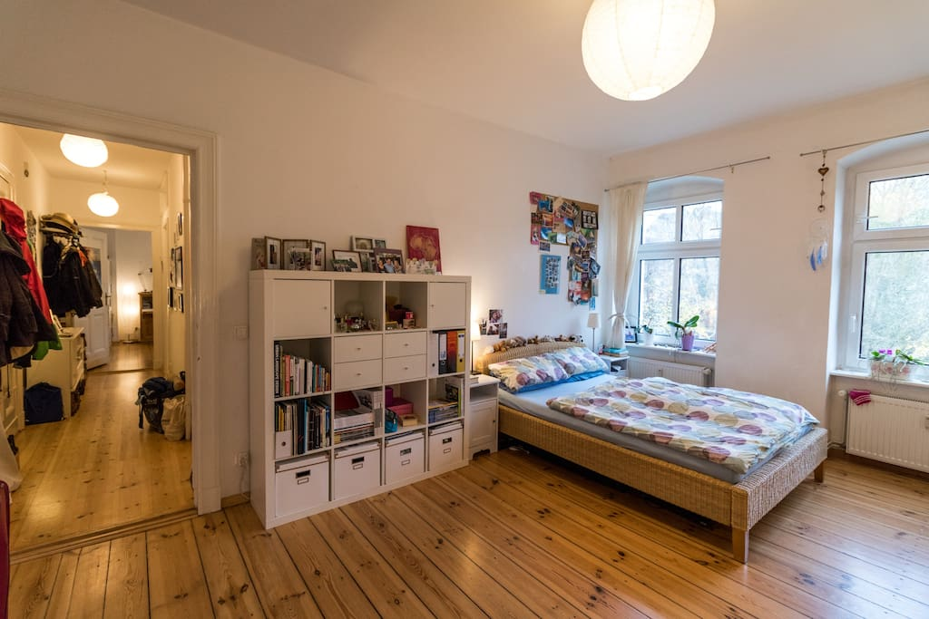 The bedroom with comfy bed for 2