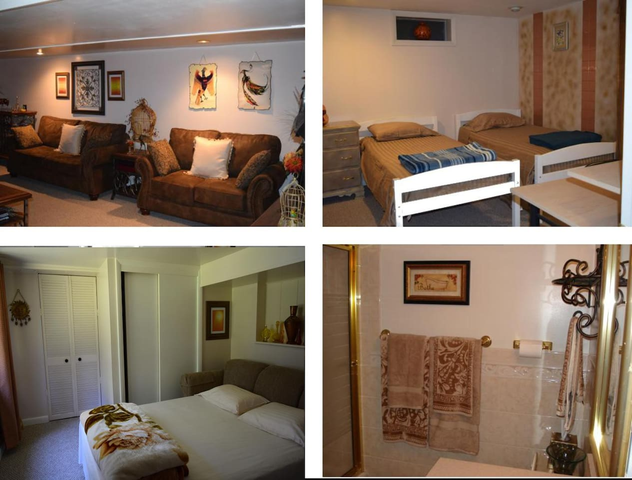 Large, private space. 4 rooms plus laundry room
