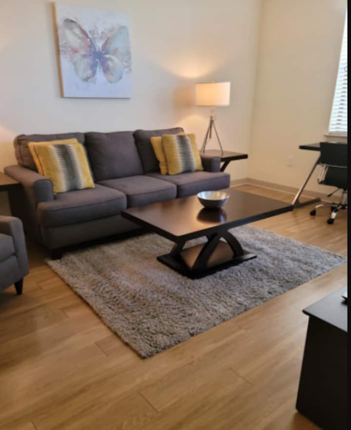 Downtown Area, 1 bed KING - WIFI and W/D - HULU+