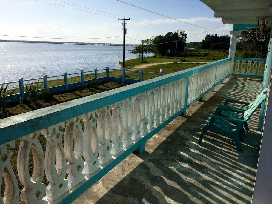 A view from the front veranda overlooking the lagoon.